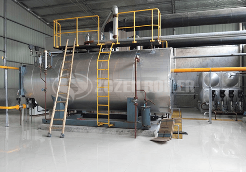 2 tph WNS condensing gas-fired steam boiler for chemical industry