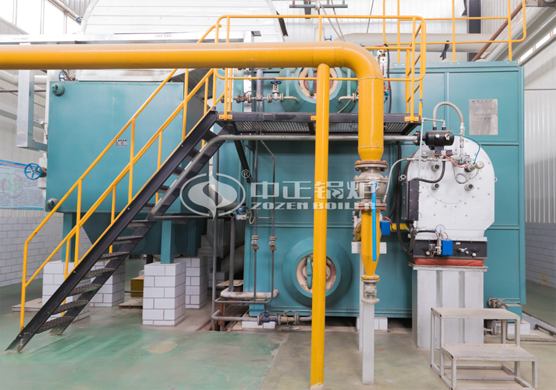 15tph SZS series condensing gas-fired steam boiler project for chemical industry