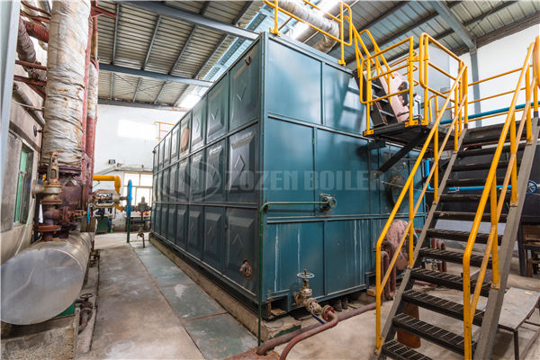 3.6 million kcal YQW series gas-fired horizontal thermal oil heater & waste heat boiler project for